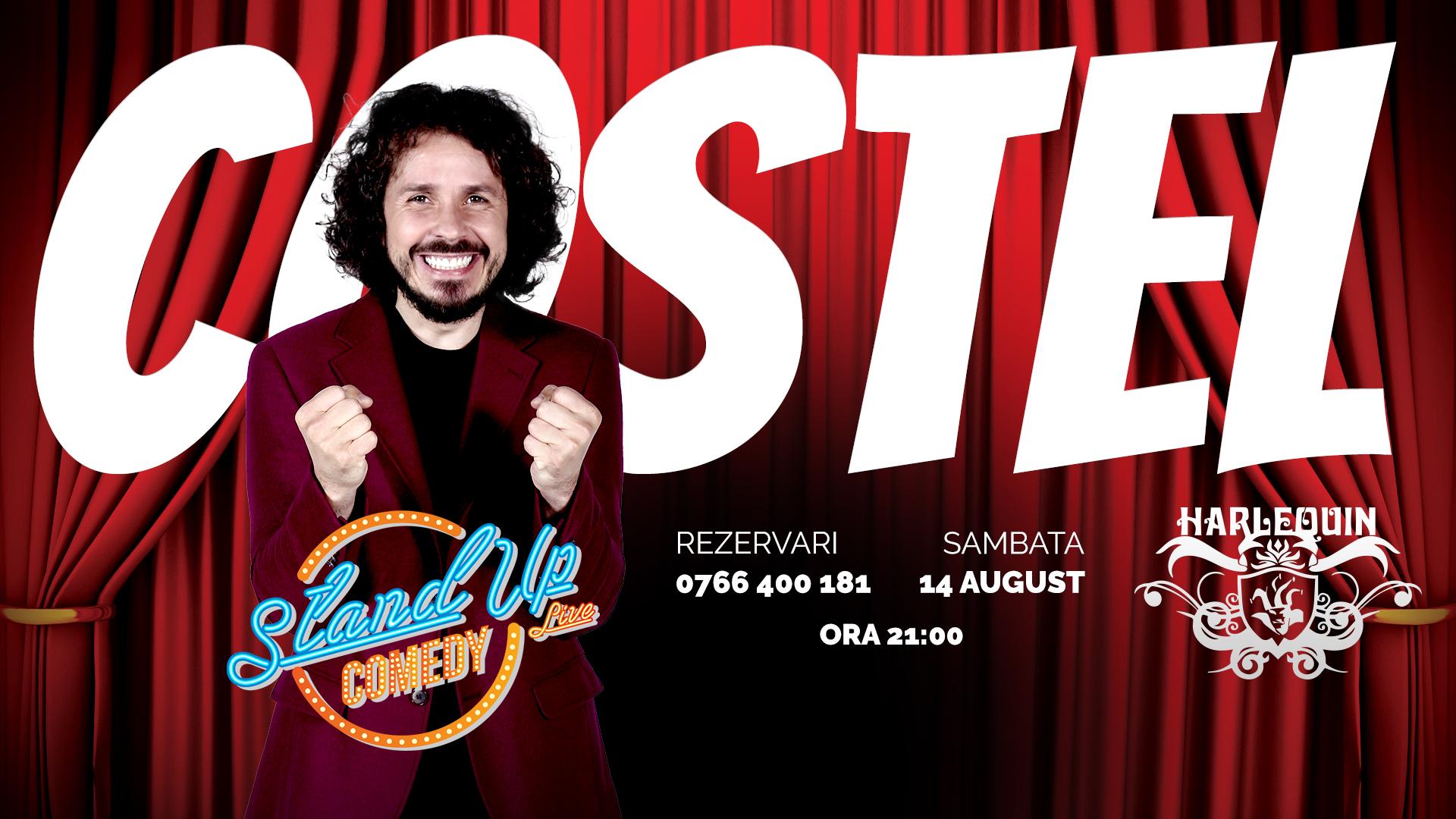 Standup comedy cu COSTEL pe 14 august la Harlequin Mamaia