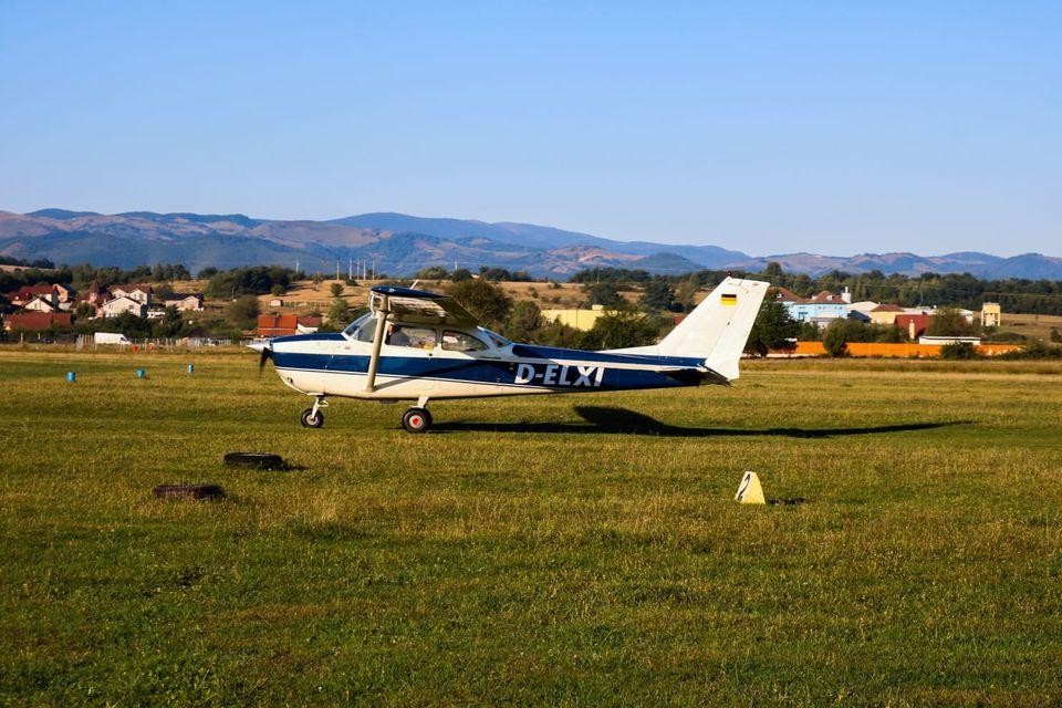 Zbor cu avionul deasupra Sibiului