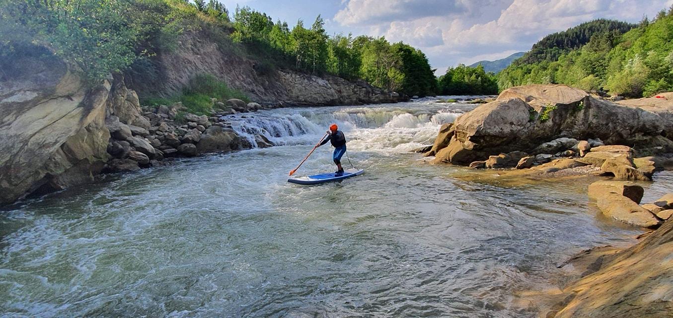 SUP pe râul Buzău (Stand Up Paddling)
