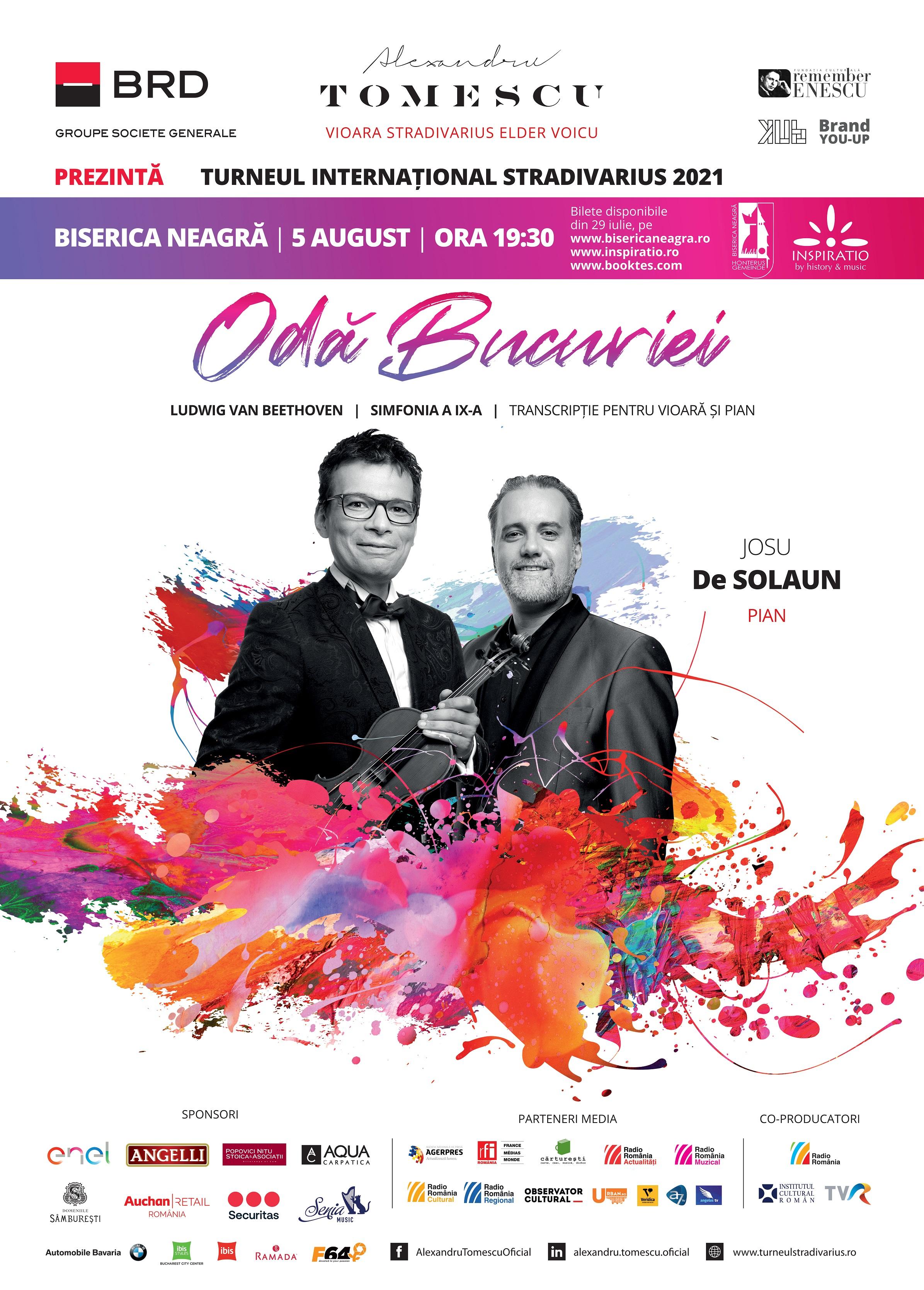 Concert extraordinar Odă Bucuriei - Alexandru Tomescu și Josu De Solaun