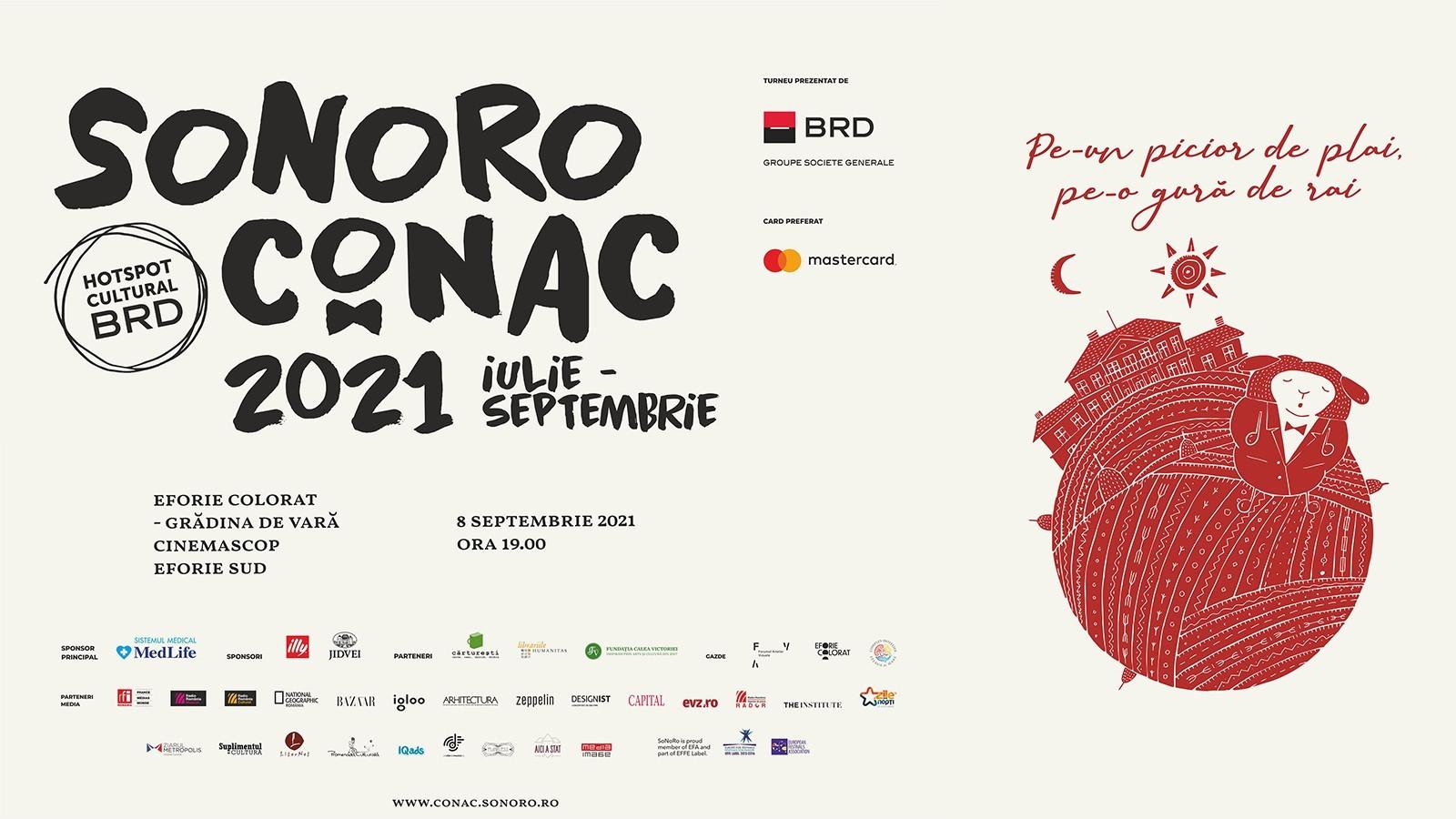 Concert SoNoRo Conac IX în Gradina de Vară Cinemascop din Eforie Sud