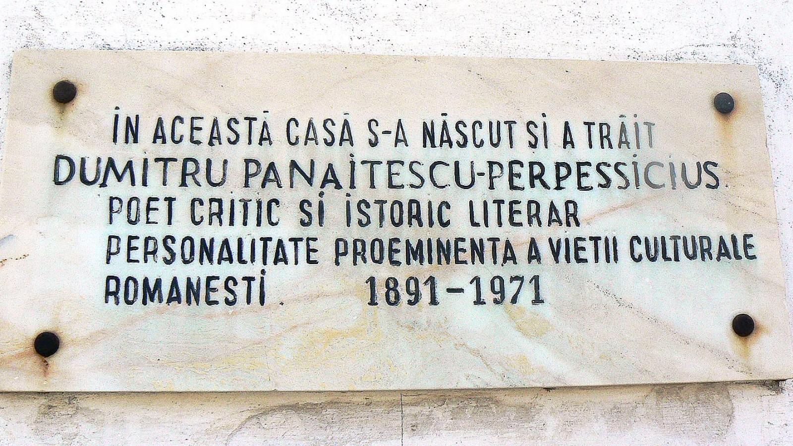 Casa Memoriala Dumitru Panaitescu Perpessicius