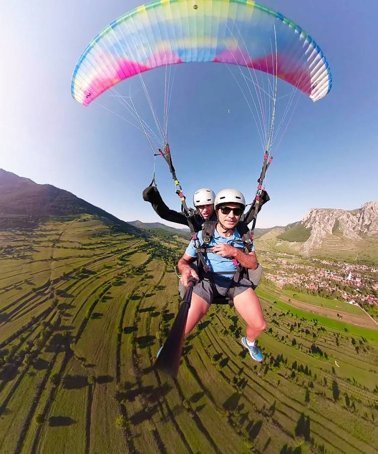 Paragliding Tandem Flight in Romania
